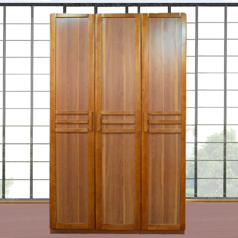派森家具 三门衣柜 木质衣柜 组合衣柜 实木包三门衣橱 宜家3拉门衣橱