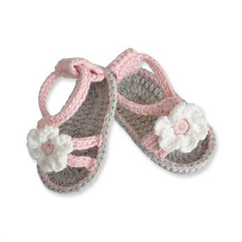 夏季热销公主宝宝手工编织凉鞋/婴儿学步