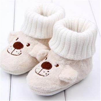 agolier 婴幼儿立体动物造型鞋子步前鞋可爱卡通珊瑚绒宝宝学步鞋脚套