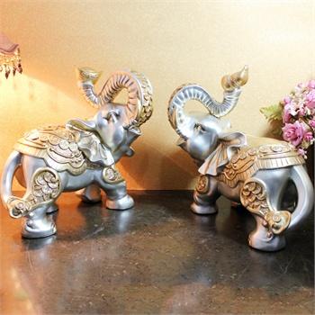 孖堡家居大象装饰摆件 客厅欧式树脂吉祥物 工艺品摆饰 家居装饰礼品