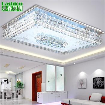 现代简约led吸顶灯长方形客厅灯卧室灯大气水晶