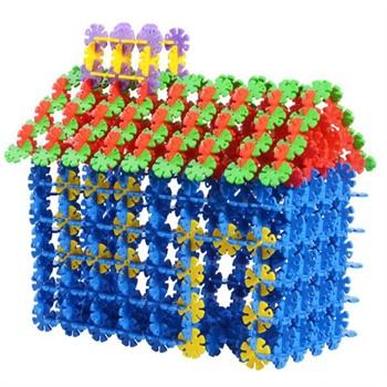 加厚雪花片建构拼插塑料积木立体拼图儿童桌面