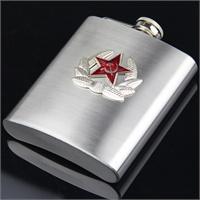 兵行者纯钢制为人民服个性酒壶 朋友馈赠 生日礼物 意义非凡