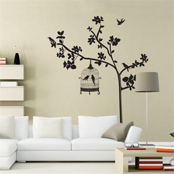 时尚客厅卧室电视沙发背景装饰墙贴