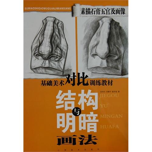 素描石膏五官及面像结构与明暗画法(基础美术