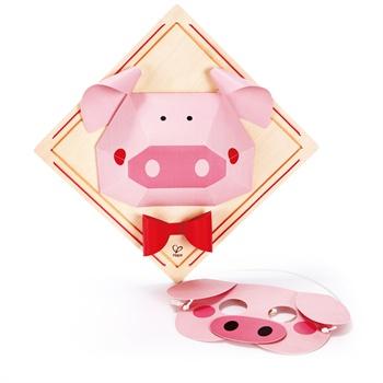 德国hape diy立体折纸画-小猪 绘画 益智玩具 e5126