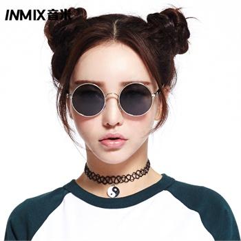 【inmix眼镜】inmix 圆形复古墨镜