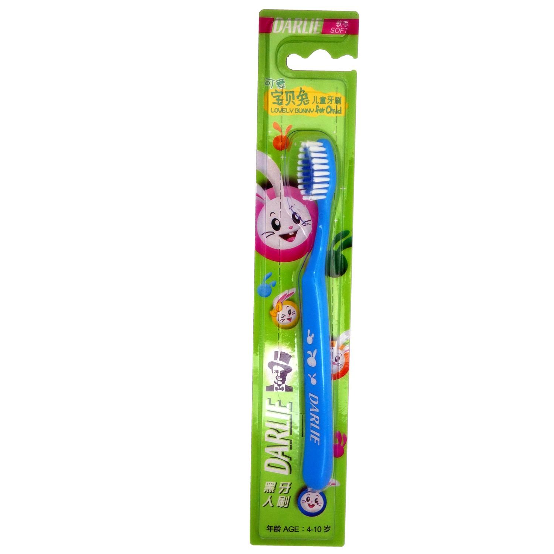 儿童牙刷 软毛可爱宝贝兔 京东第三方 黑人可爱宝贝兔 儿童苹果味套装