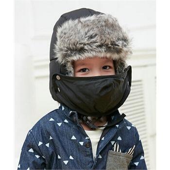 冬天潮可爱户外儿童帽子男孩韩版雷锋帽保暖防风护耳滑雪帽