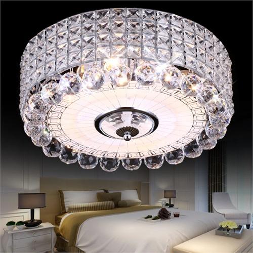 祺家现代简约三档变换客厅灯浪漫摩天轮卧室灯奢华水晶吸顶灯餐厅灯sx