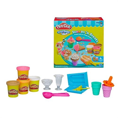 轻粘土幼儿橡皮泥儿童手工太空泥孩之宝冰激凌组冰淇淋机4色10色24色
