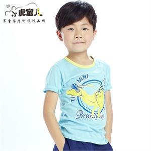 小虎宝儿童装 男童短袖t恤 儿童短袖t恤半袖宝宝短袖t恤童装夏装2014