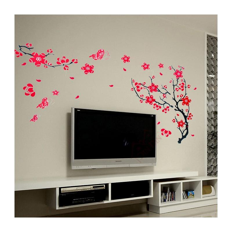 壁墙装�_diy可移除墙贴饰 中国风墙贴 时尚优雅客厅电视墙贴 装贴背景墙贴壁贴