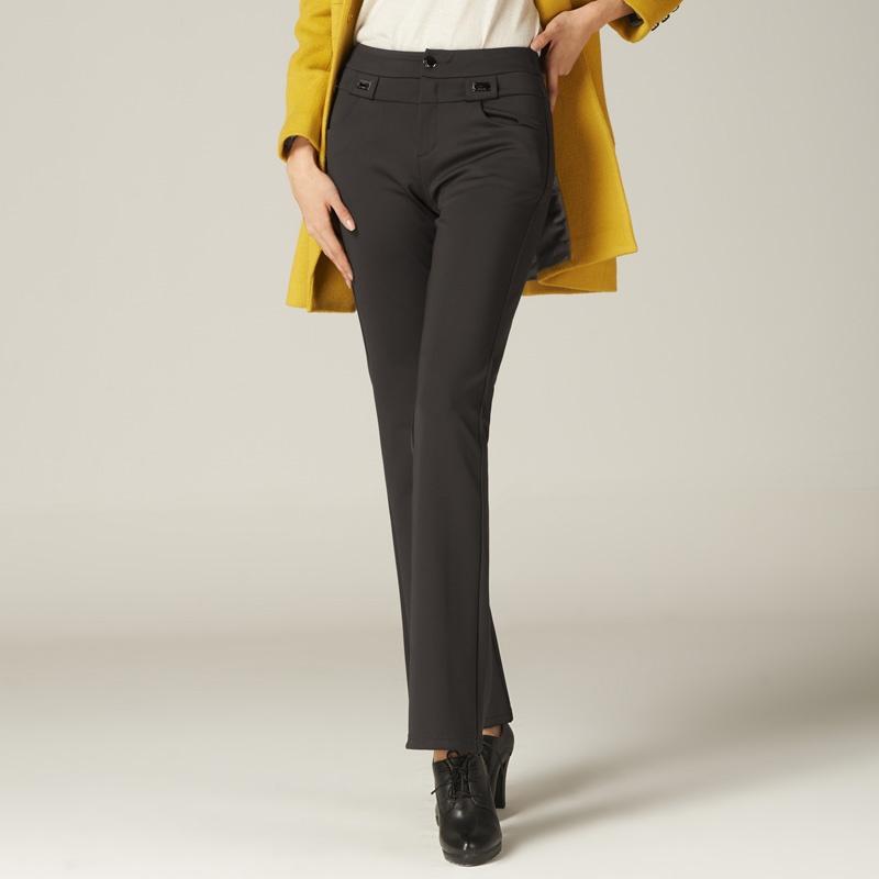 娅丽达2013秋冬季新款显瘦大码针织 阔腿 裤 微喇叭 裤女l4005_咖啡色