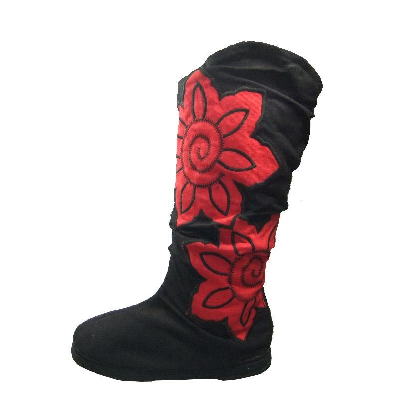 女鞋 大红花