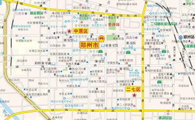 详细的城市区域地图