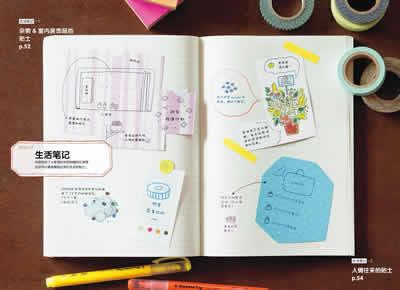 一学就会1000种可爱手帐笔记 (美术 设计 建筑 教材 世纪博览)