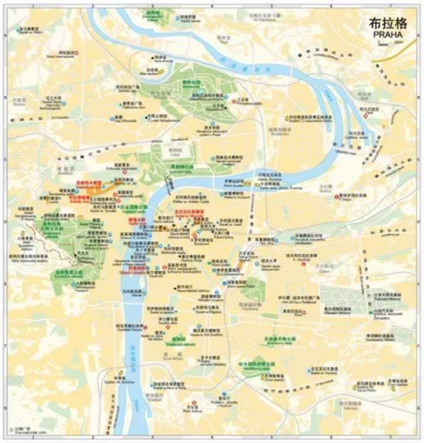 【th】世界分国地图--捷克 斯洛伐克 中国地图出版社 中国地图出版社