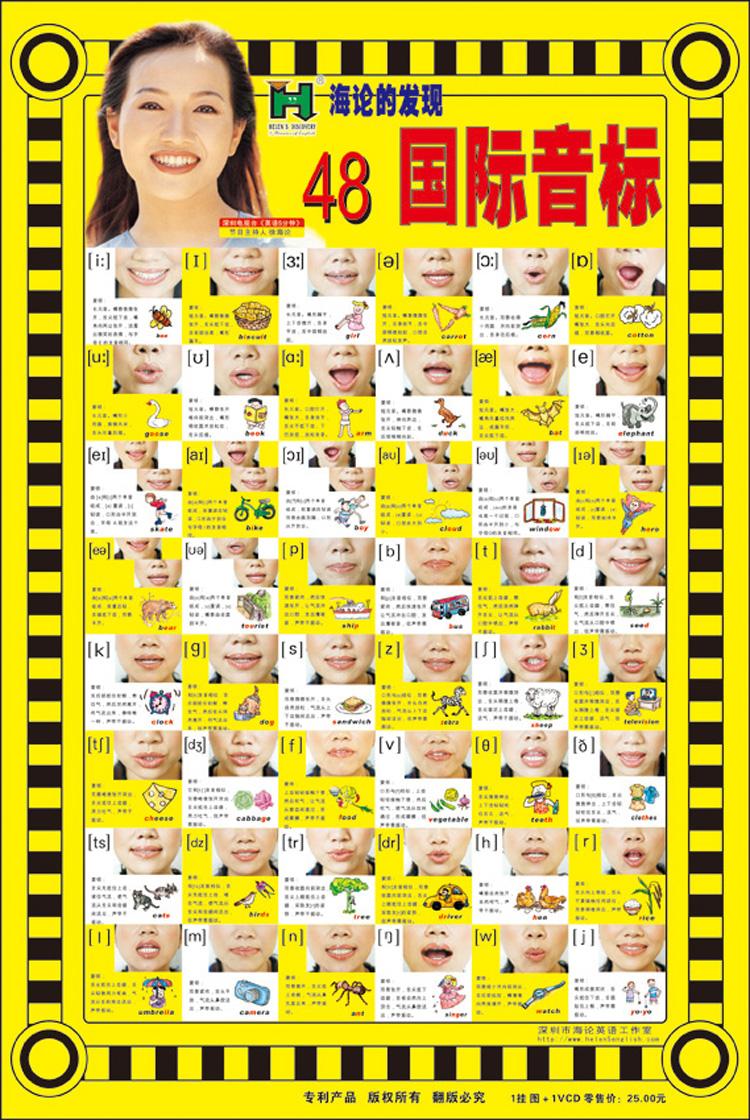 48个音标手绘海报