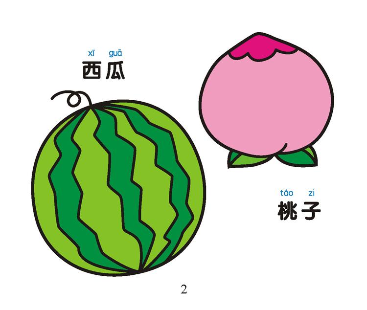 《宝宝爱画画---蔬菜水果》