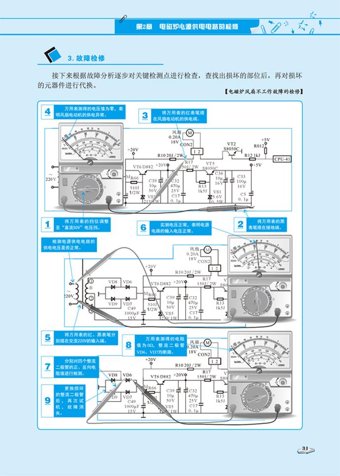 图解电磁炉/微波炉维修快速入门 9787111465546