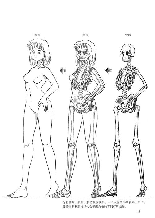 【th】日本漫画手绘技法经典教程4:女孩子的画法 林晃,李伟 中国民族
