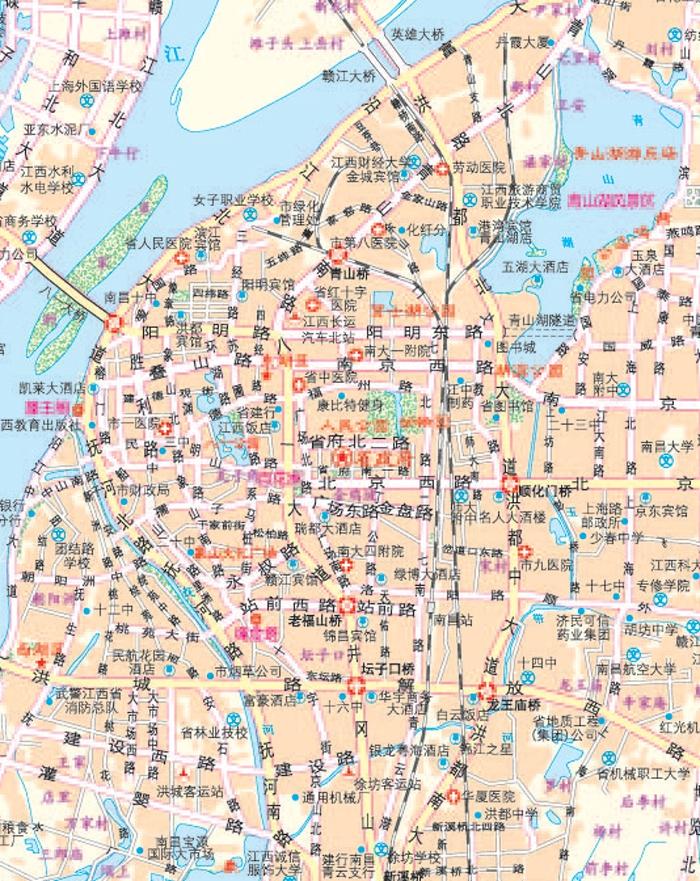 总图――中国全图及江西四邻地图; 江西详图――大比例尺江西省各地市