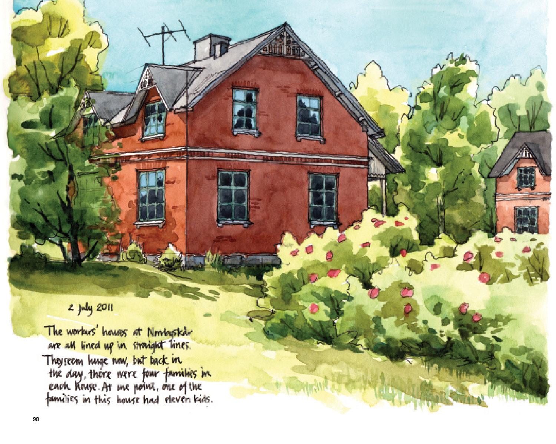 别墅景观速写图