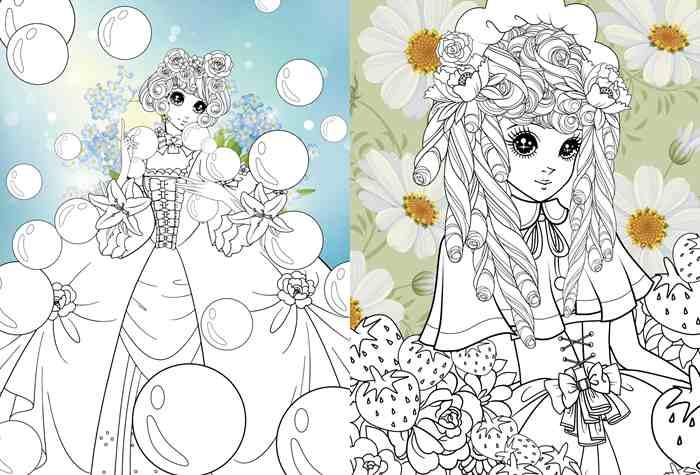 童话绘画线条背景素材