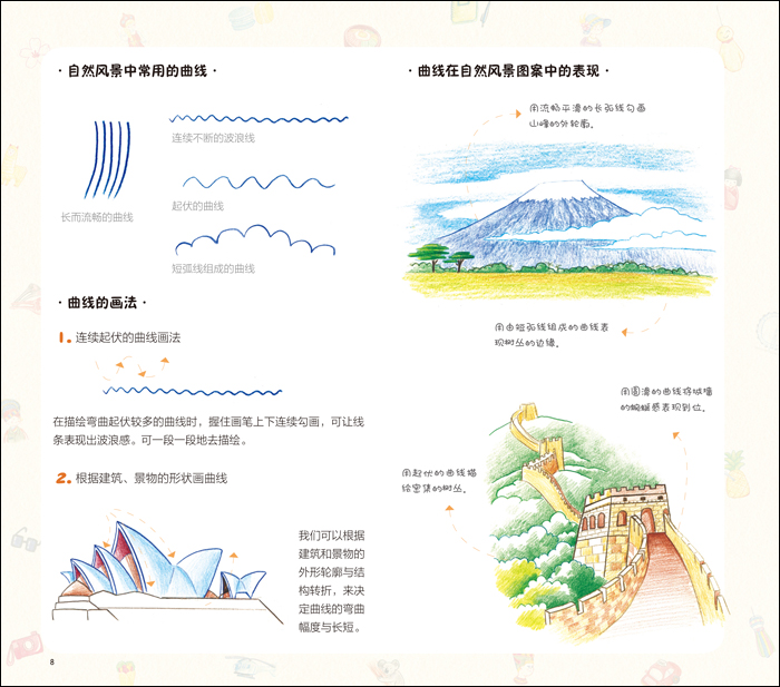1001个萌萌哒简笔画,色铅笔画世界