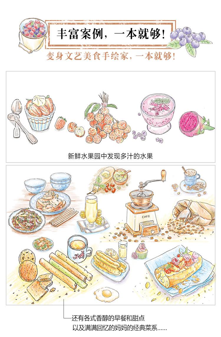 色铅笔的温情手绘:我的美食手帐~~***简单,***好看!