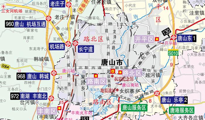 河北公路唐山秦皇岛地图