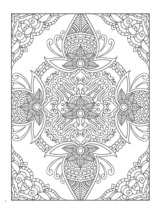 曼海蒂花纹涂色,包括31幅单面图,曼海蒂是源于古老的纹身图案,用海娜