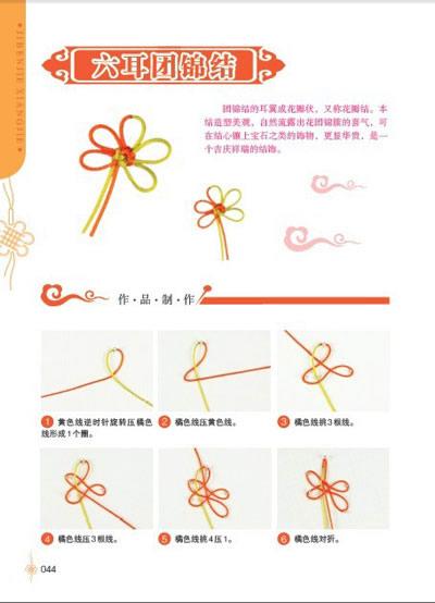 团锦结的编法图解 菠萝结编法图解 手串结的编法图解