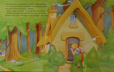 机关书金发女孩和三只小熊pop up book goldilock and three little b