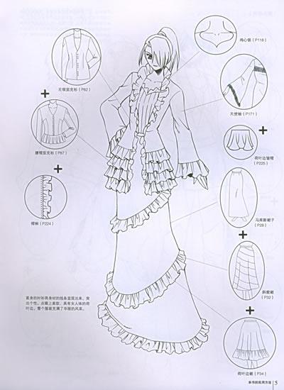 漫画人物服装画法; 公主裙子的画法裙子画法卡通裙子的画法