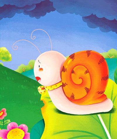 小虫子绘本故事——小蜗牛