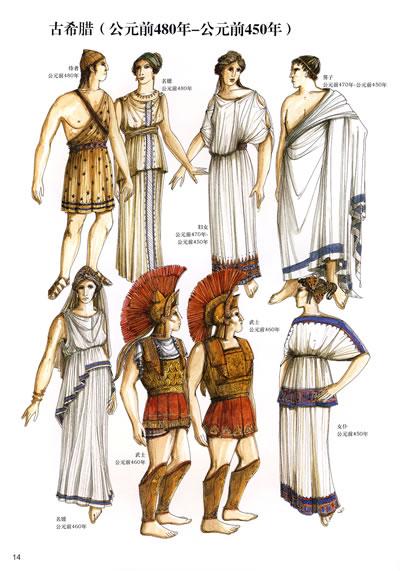 古埃及服饰-西方服装通史经典图鉴图片