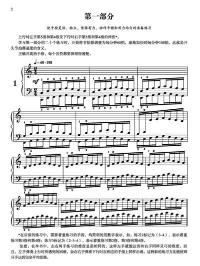 哈农钢琴练指法图片