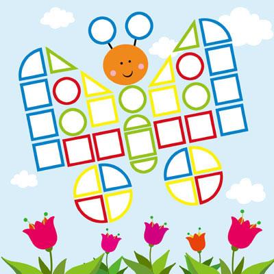 《马赛克小贴画》是一套适合2-4岁儿童的创意