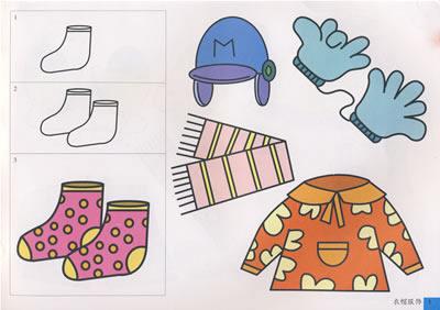 手痒痒简笔画标准图谱 全4册,包括动物,人物,物品,植物等图片