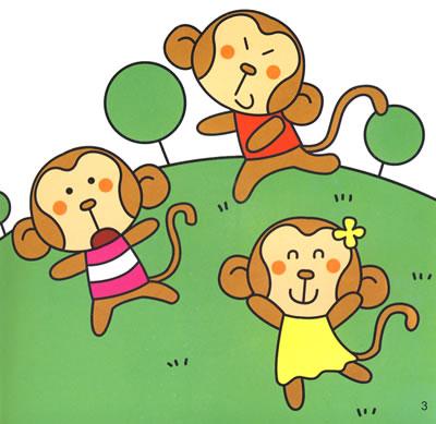 小猴子下山简笔画步骤