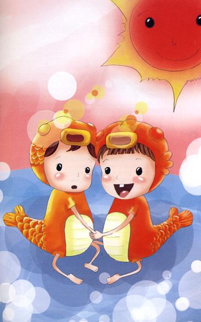 可爱的 双鱼座宝宝,图片尺寸:437×473,来自网页:http://roll.sohu.