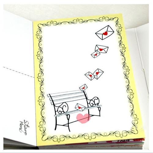 三年二班 学生文具 韩国文具 my love zzang 明信片 可爱小熊版