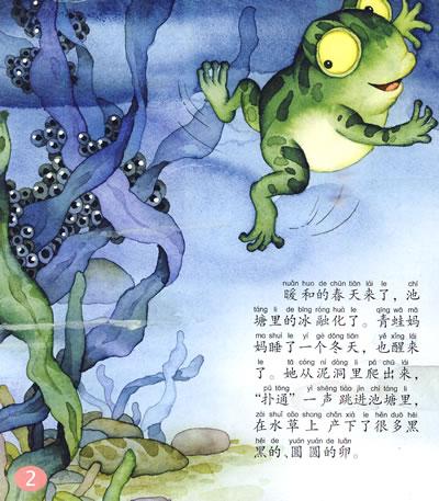 小青蛙找妈妈简笔图片_青蛙儿童语_儿童简笔画大全小青蛙_荷塘青蛙