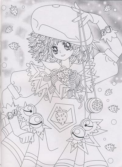 儿童涂色画打印 公主