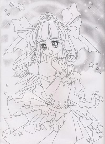 儿童涂色画打印公主》》儿童水彩涂色填色画